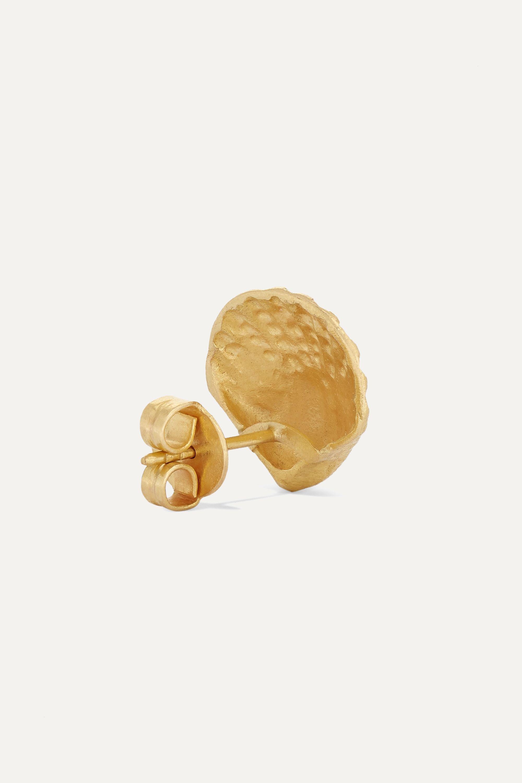 Pippa Small + NET SUSTAIN Scallop 18-karat gold earrings