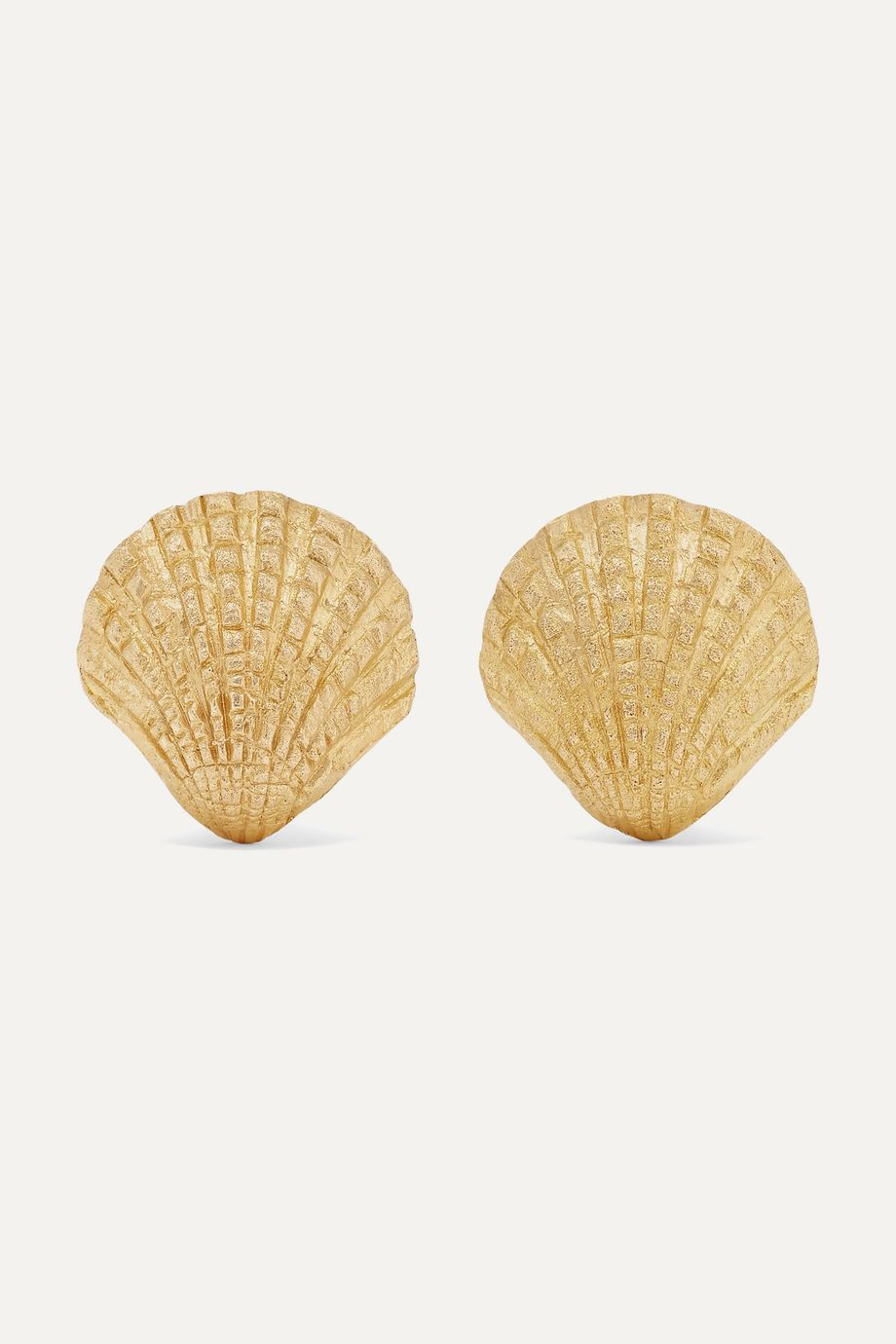 Pippa Small + NET SUSTAIN Scallop 18-karat gold earrings