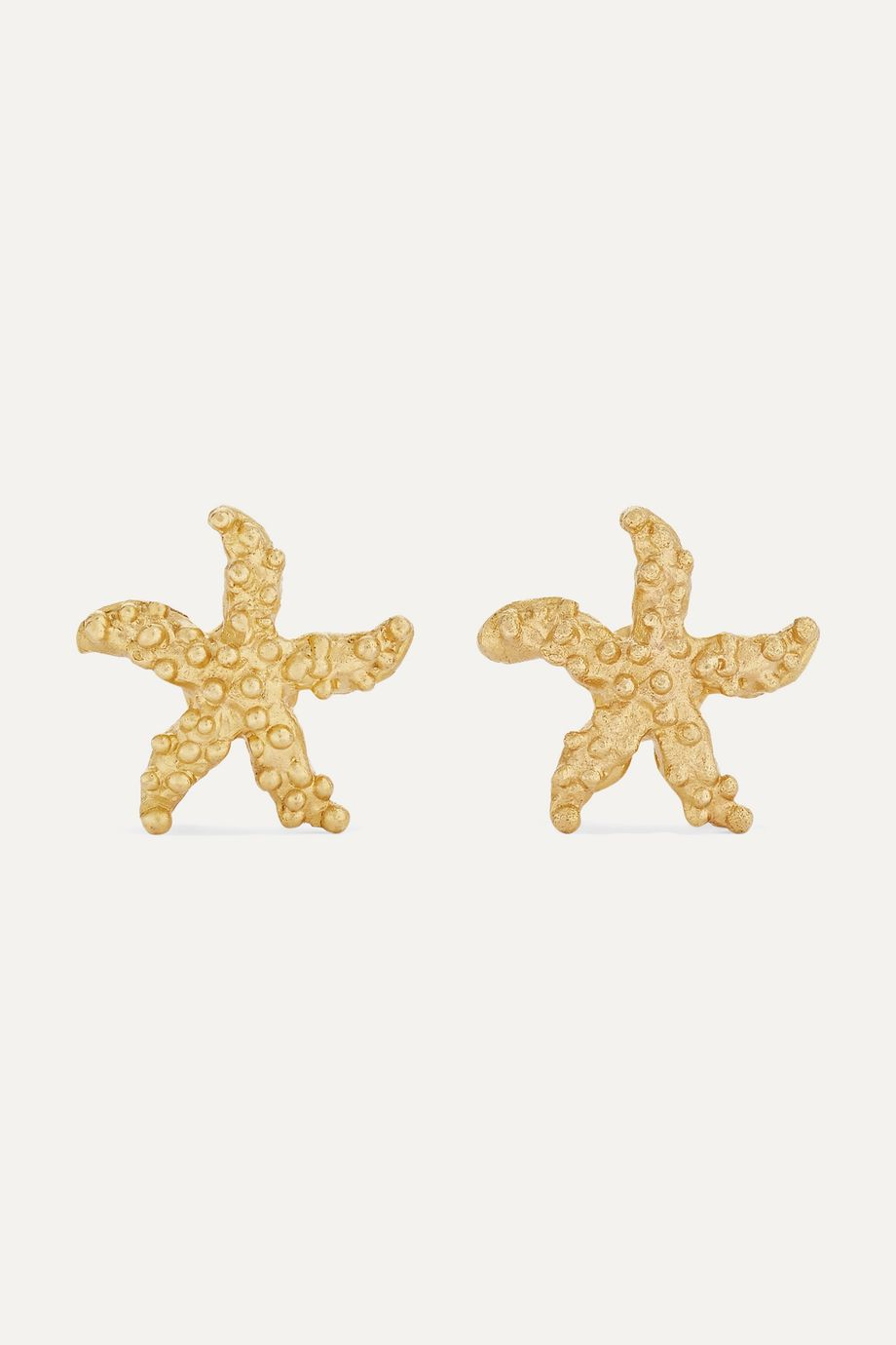 Pippa Small + NET SUSTAIN Starfish 18-karat gold earrings