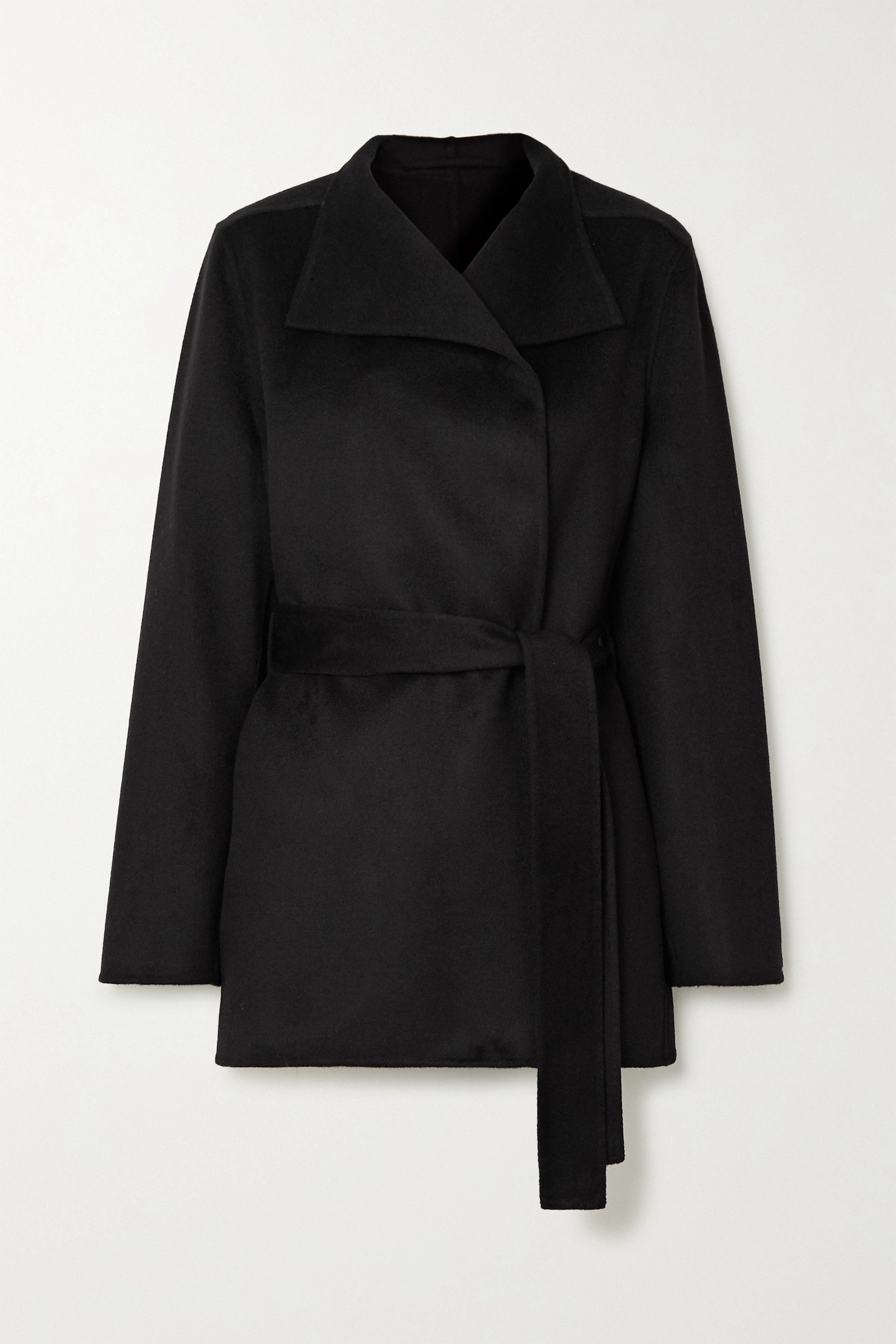 Lima belted wool and cashmere-blend coat