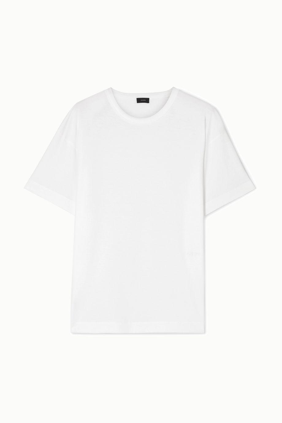 Joseph T-shirt en jersey de coton à broderie Perfect