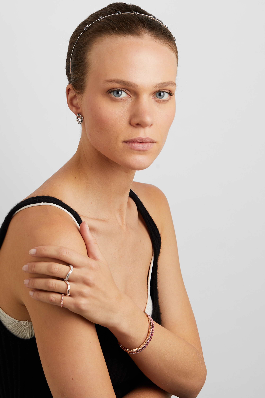 Suzanne Kalan 18-karat white gold, sapphire and diamond headband