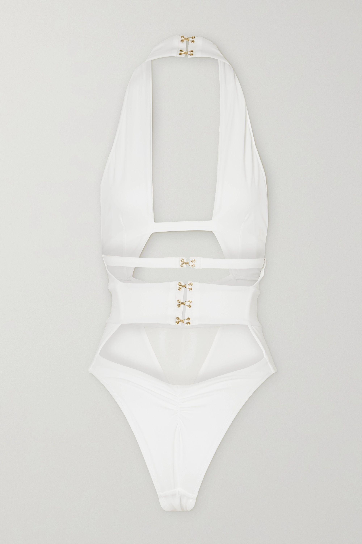 Agent Provocateur Anja cutout halterneck swimsuit