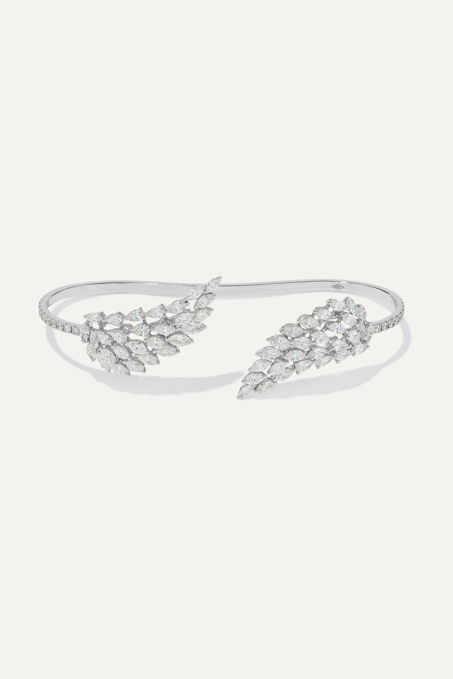Messika Bracelet en or blanc 18 carats et diamants Angel