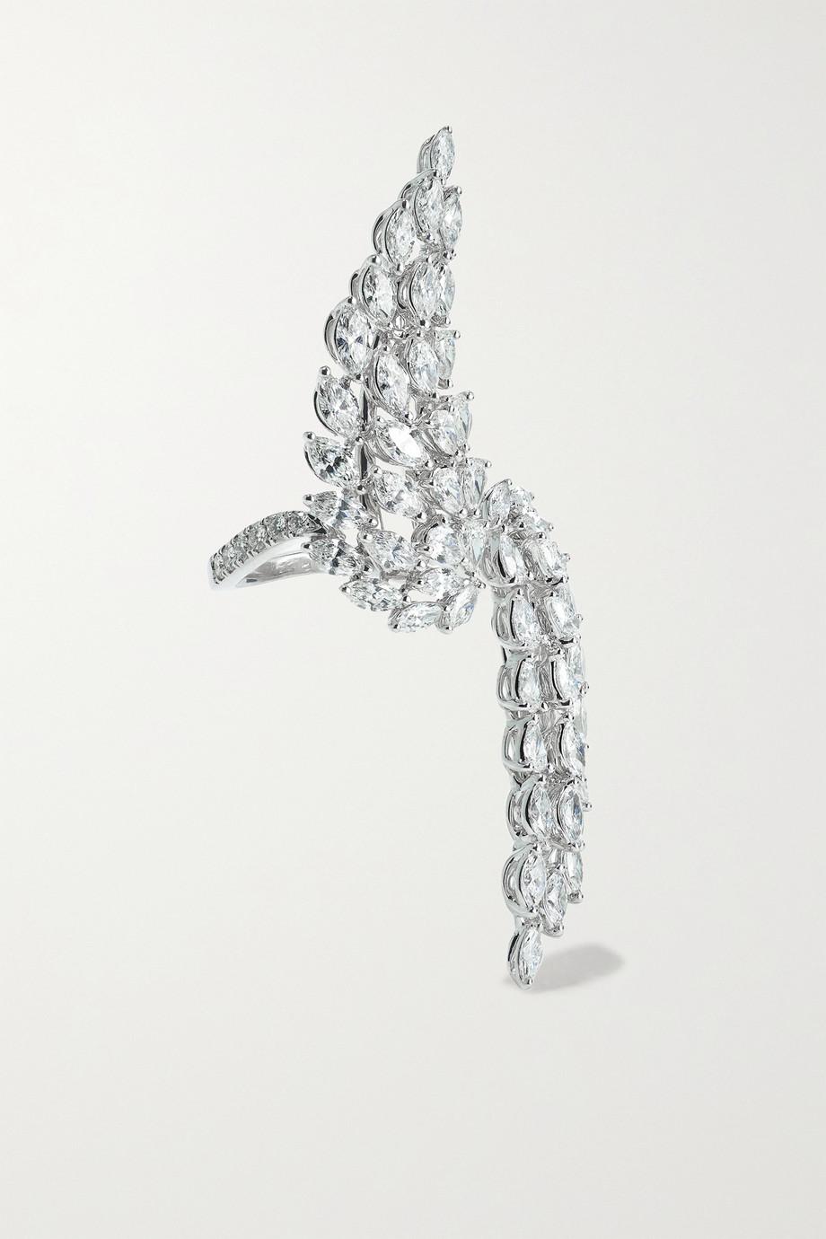 Messika Toi & Moi Angel 18-karat white gold diamond ring