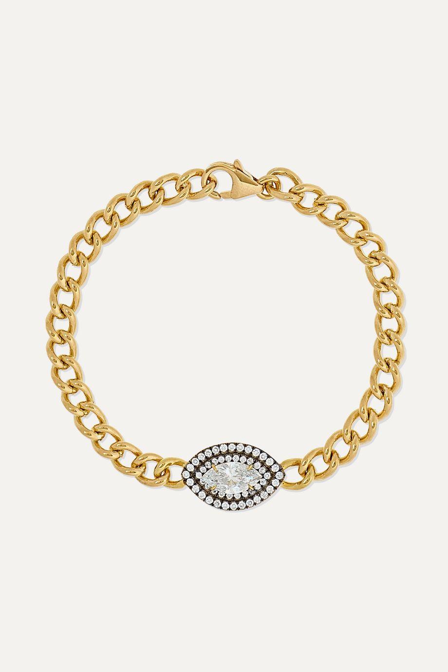 Jemma Wynne Toujours Armband aus 18 Karat Gold mit Diamanten