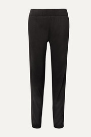 Lily ribbed-knit paneled stretch modal-blend track pants