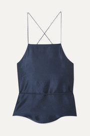 Tie-back silk-satin camisole