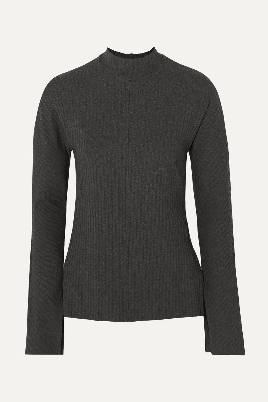 calé Lou ribbed stretch-jersey top
