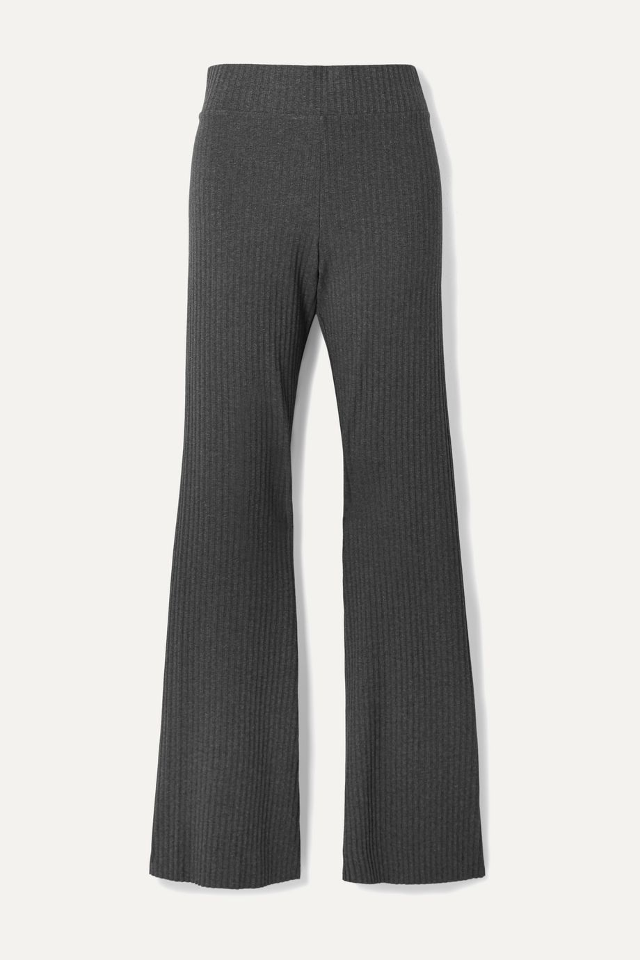 calé Angelique ribbed stretch-jersey flared pants
