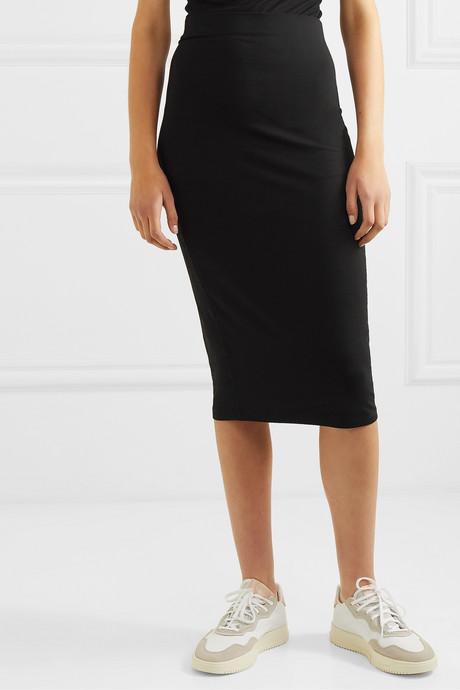 + NET SUSTAIN stretch-Tencel midi skirt