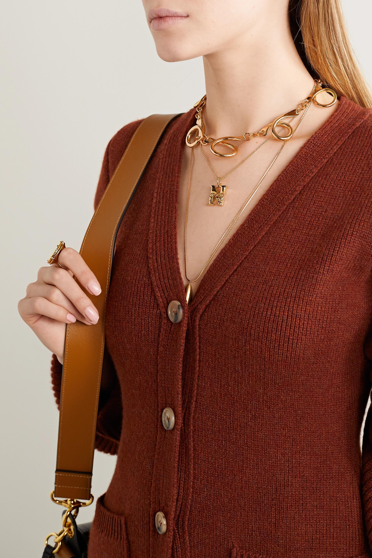Chloé Alphabet gold-tone necklace