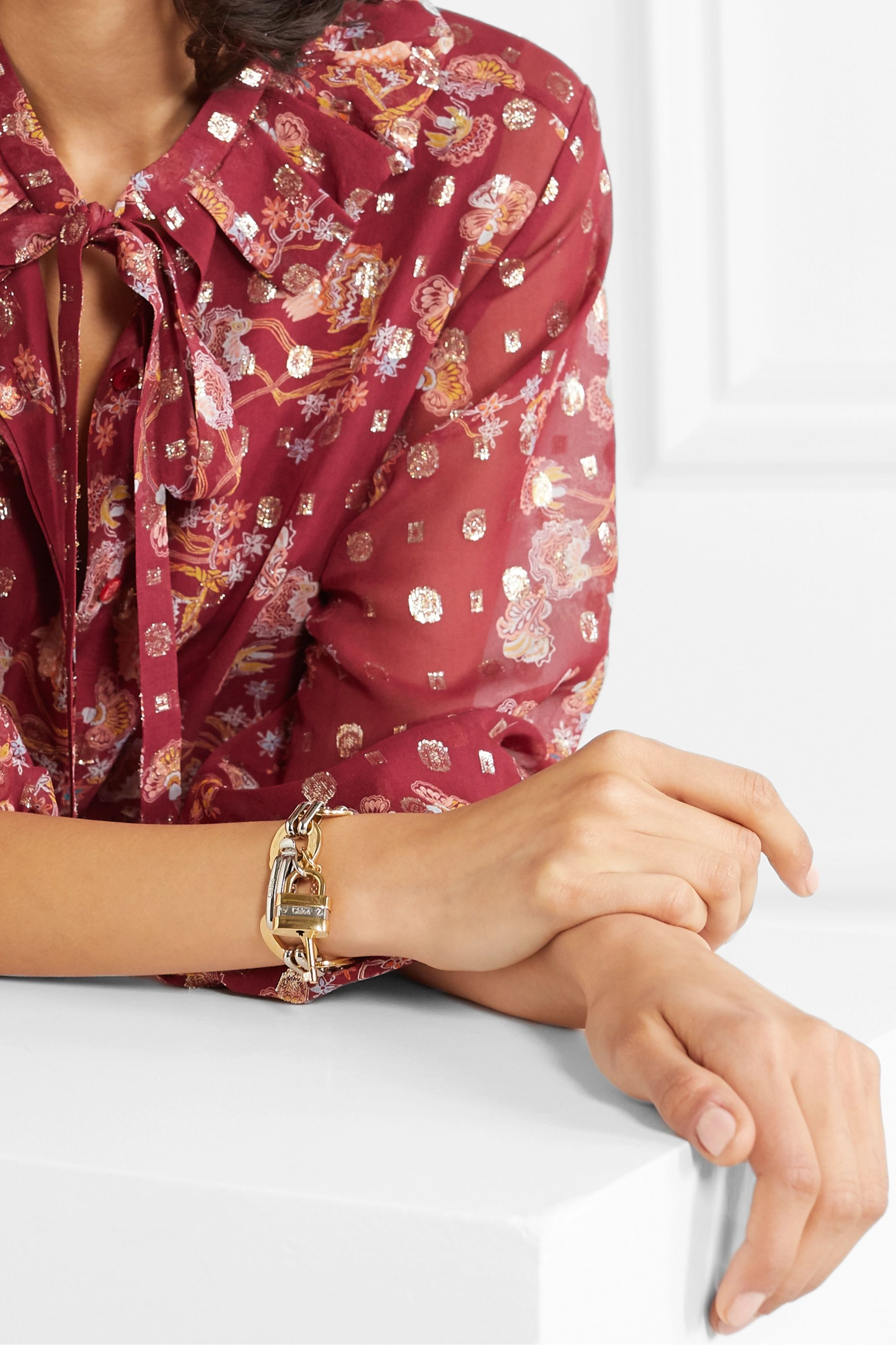 Chloé Colleen gold and silver-tone bracelet