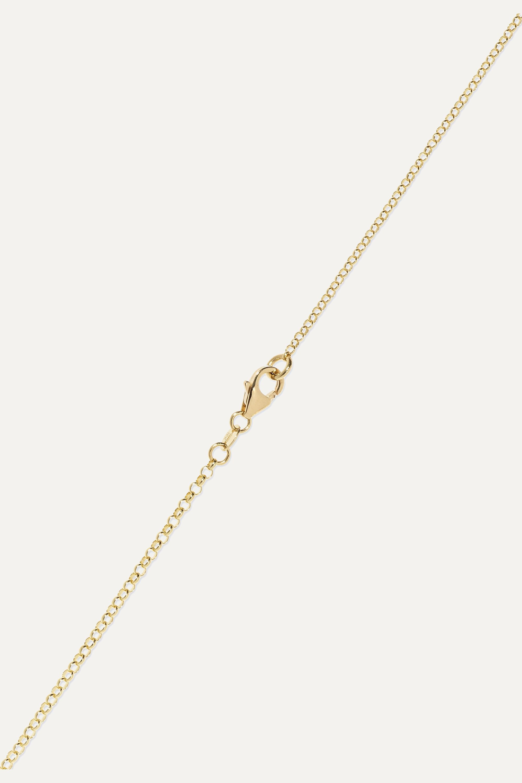 Foundrae Course Correction 18-karat gold and enamel necklace