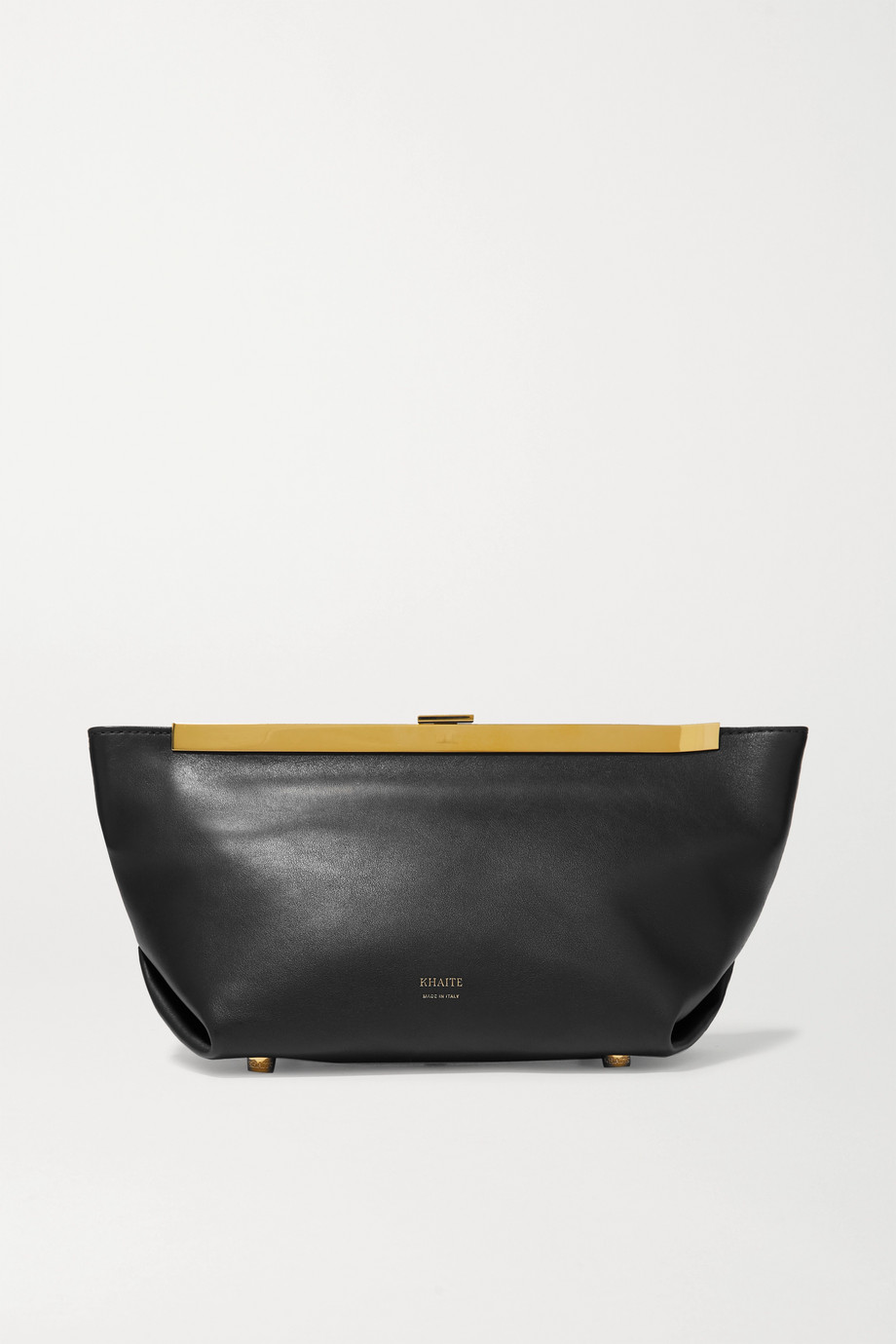 Khaite Envelope Pleat Clutch aus Leder