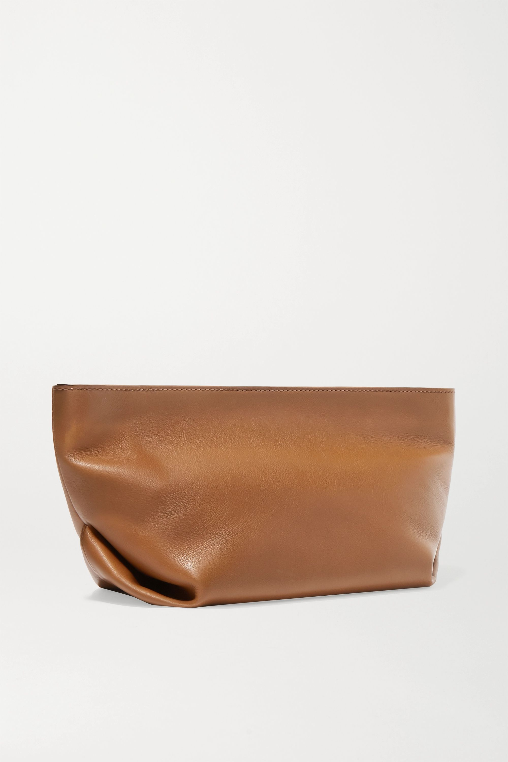Khaite Envelope Pleat leather shoulder bag