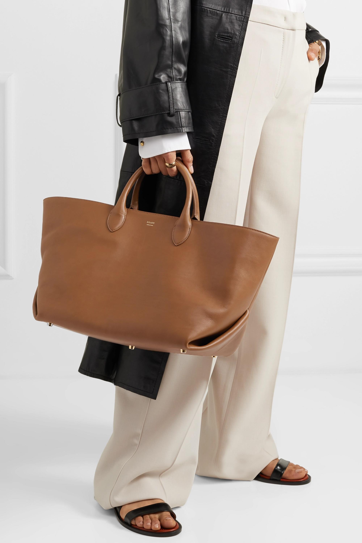 Khaite Envelope Pleat medium leather tote