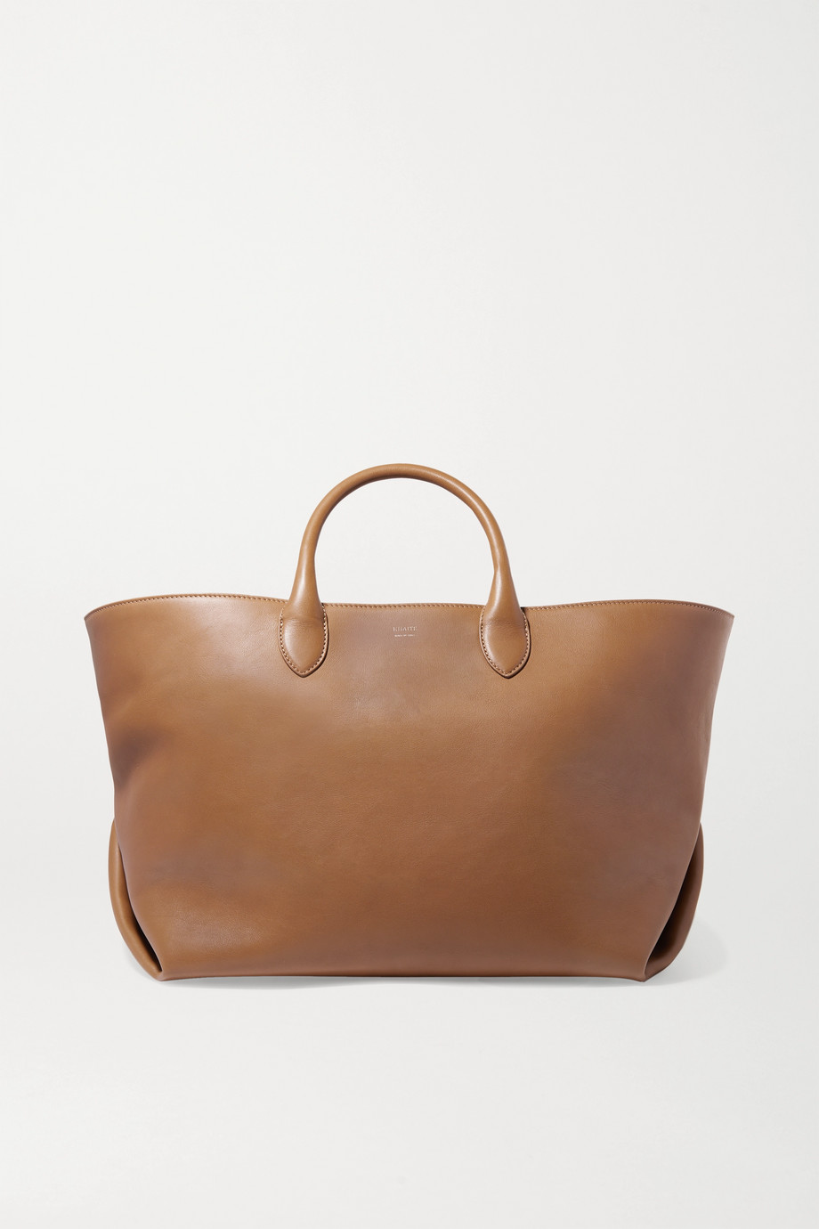 Khaite Envelope Pleat medium leather tote