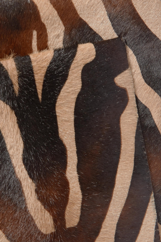 Khaite 皮革边饰斑马纹小牛毛单肩包