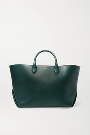 Envelope Pleat medium leather tote