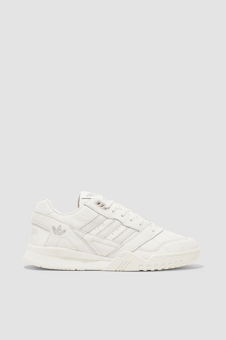 adidas Originals A.R. Trainer suede-trimmed quilted leather sneakers