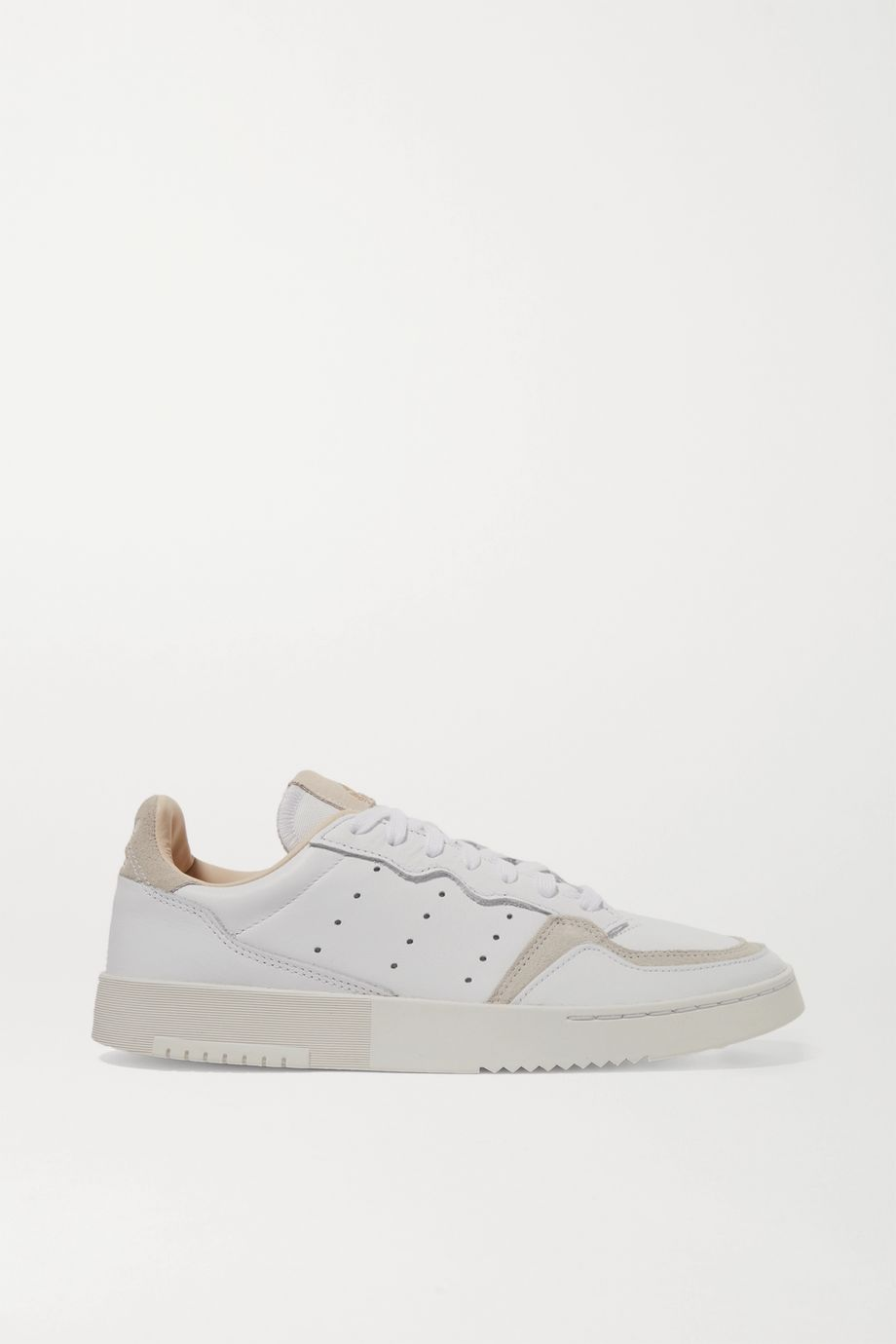 adidas Originals Supercourt suede-trimmed leather sneakers