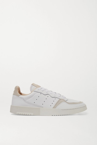 Adidas Originals Sneakers Supercourt suede-trimmed leather sneakers