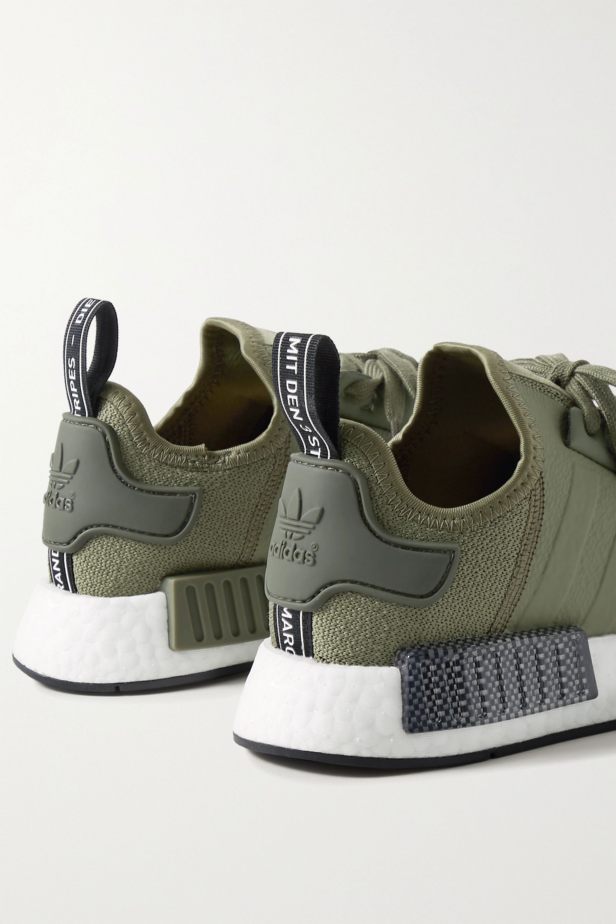 Army green NMD R1 rubber-trimmed
