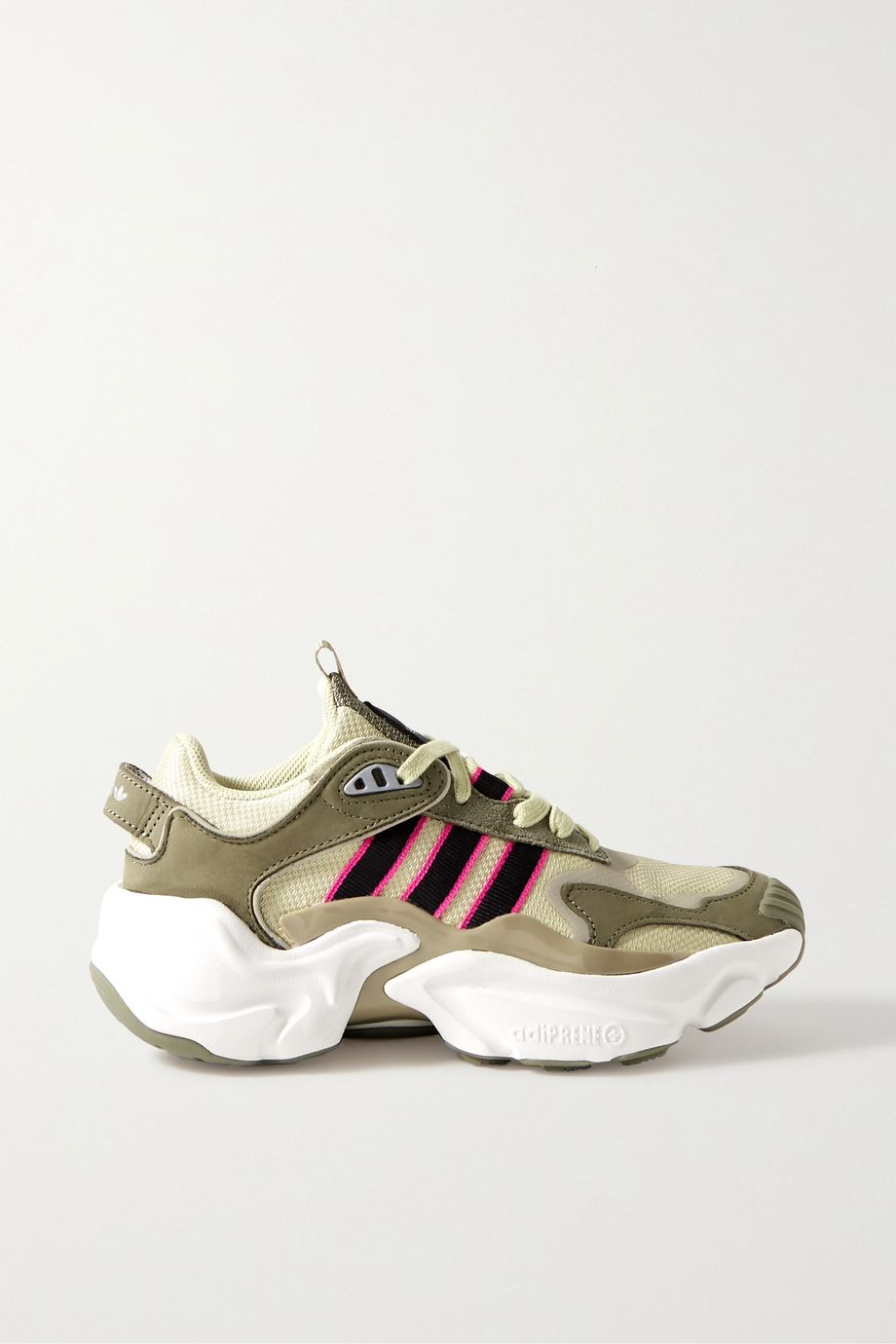 adidas Originals Magmur suede-trimmed leather and mesh sneakers