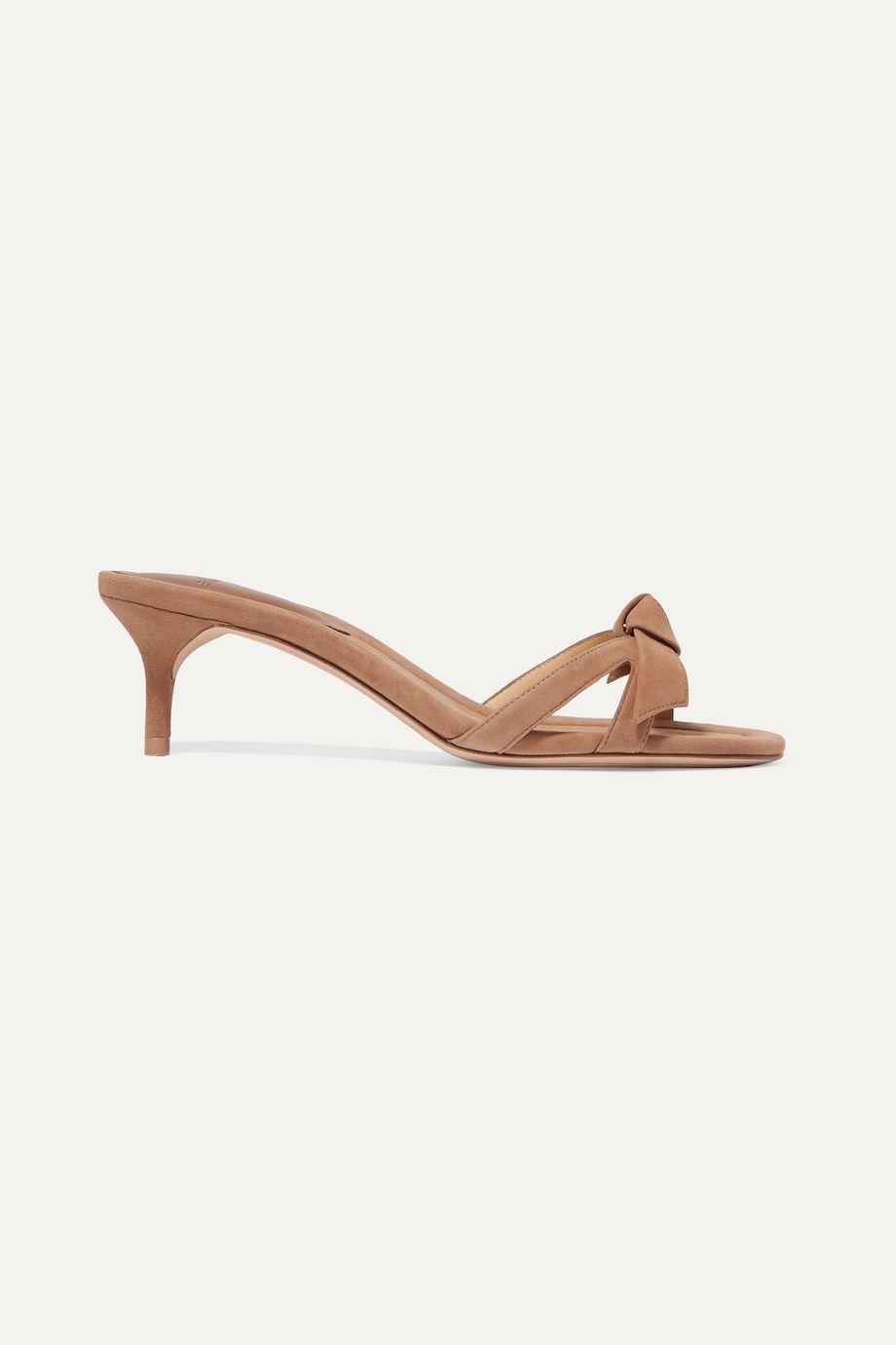 Alexandre Birman Clarita bow-embellished suede mules