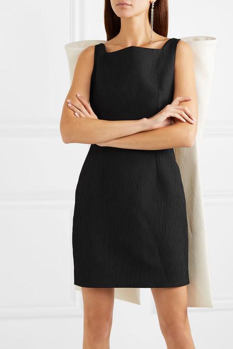Cruz bow-embellished cloqué mini dress