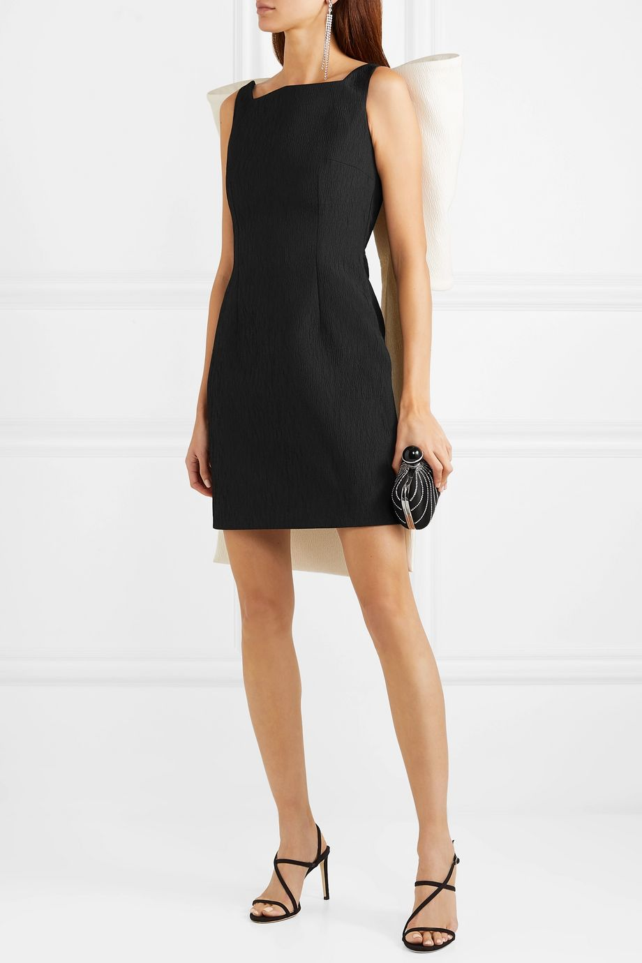 Emilia Wickstead Cruz bow-embellished cloqué mini dress