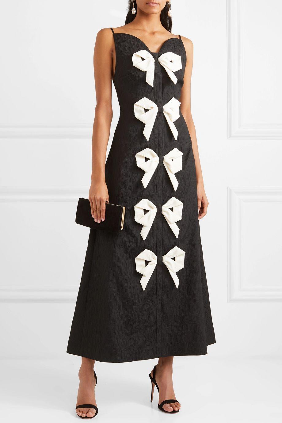 Emilia Wickstead Paris bow-detailed cloqué dress