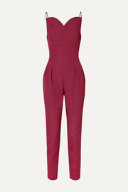 Emilia Wickstead Selma open-back cloqué jumpsuit