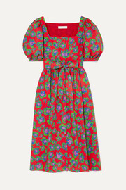 Borgo de Nor Corin belted floral-print cotton-poplin dress
