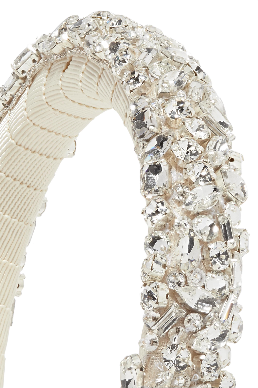 Jennifer Behr Czarina crystal-embellished grosgrain headband