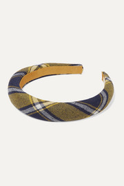 Jennifer Behr Kamden checked wool headband