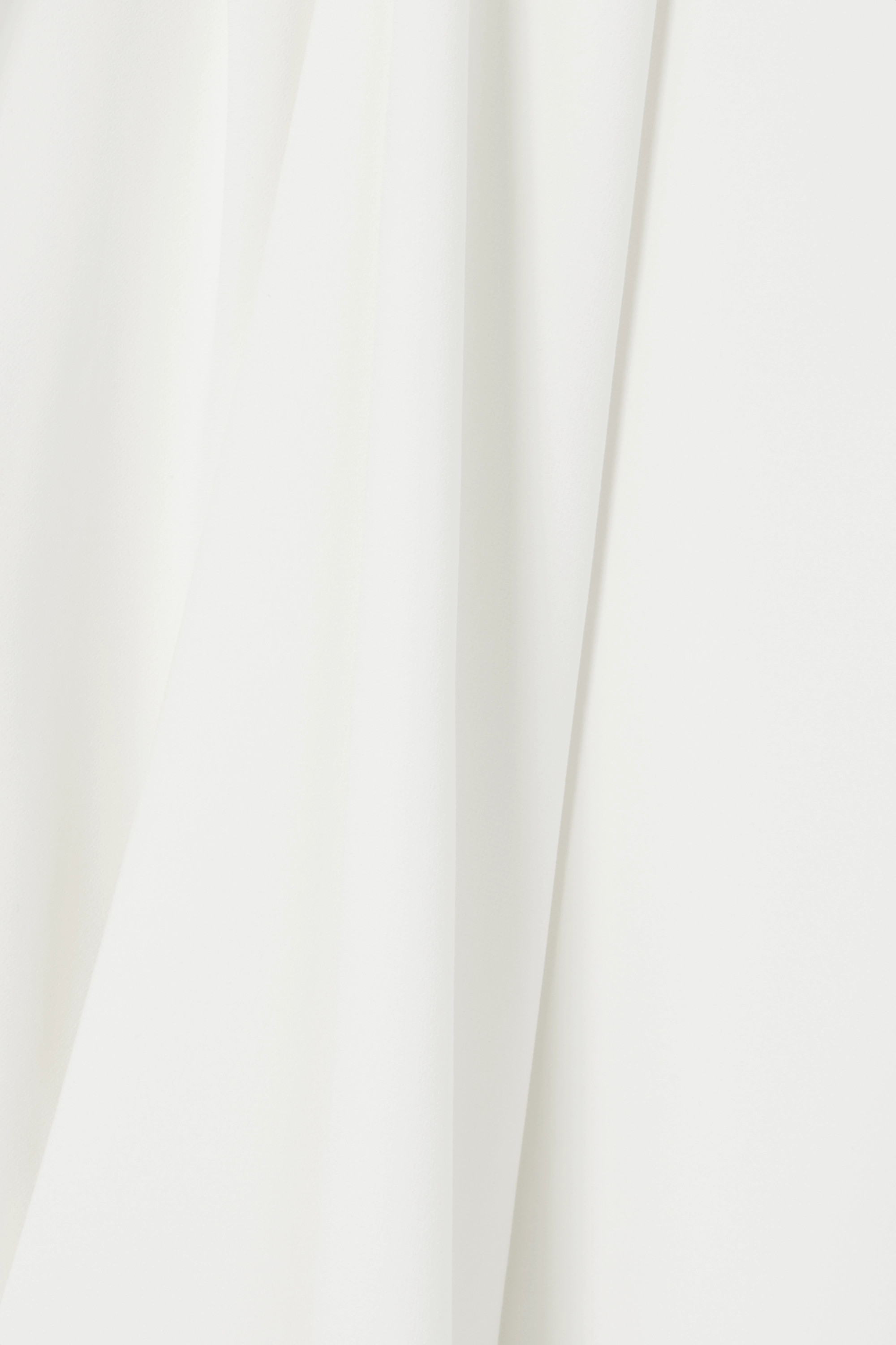 Brandon Maxwell One-shoulder draped crepe gown