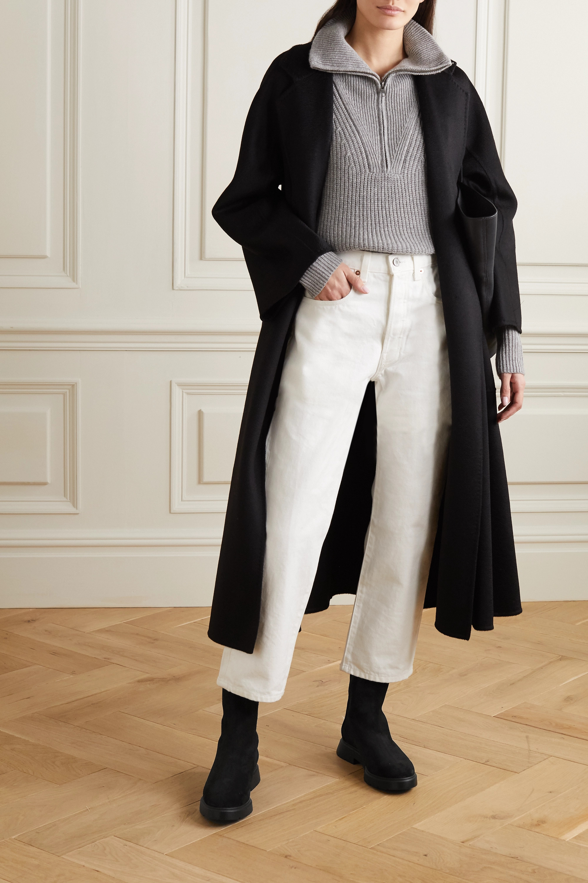 Stuart Weitzman Romy Chill shearling-lined suede ankle boots