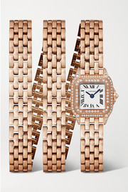 Panthère de Cartier Manchette 20mm small 18-karat rose gold and diamond watch