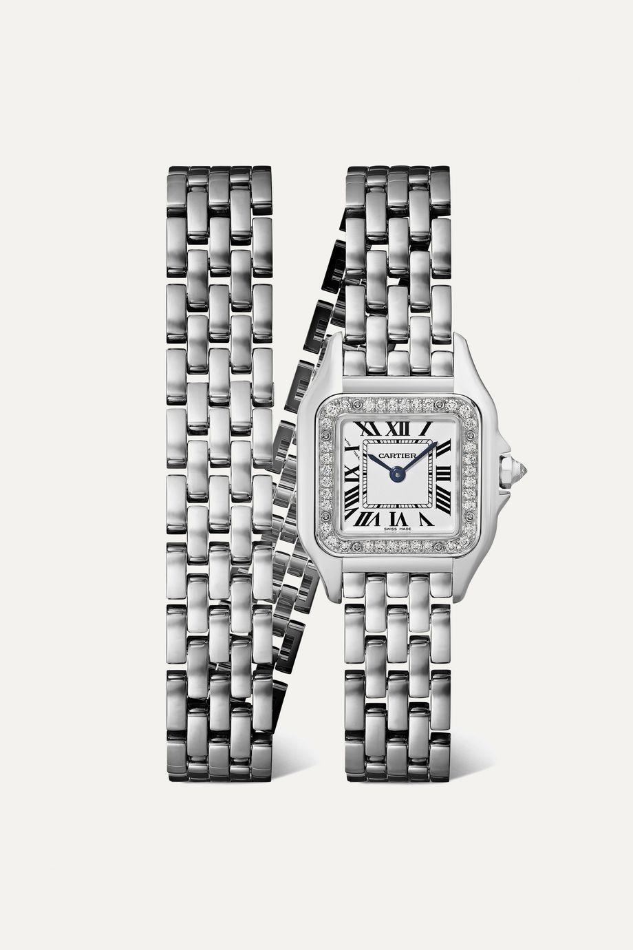 Cartier Panthère de Cartier 20mm small 18-karat white gold diamond watch