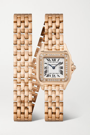 Panthère de Cartier 22mm small 18-karat pink gold and diamond watch