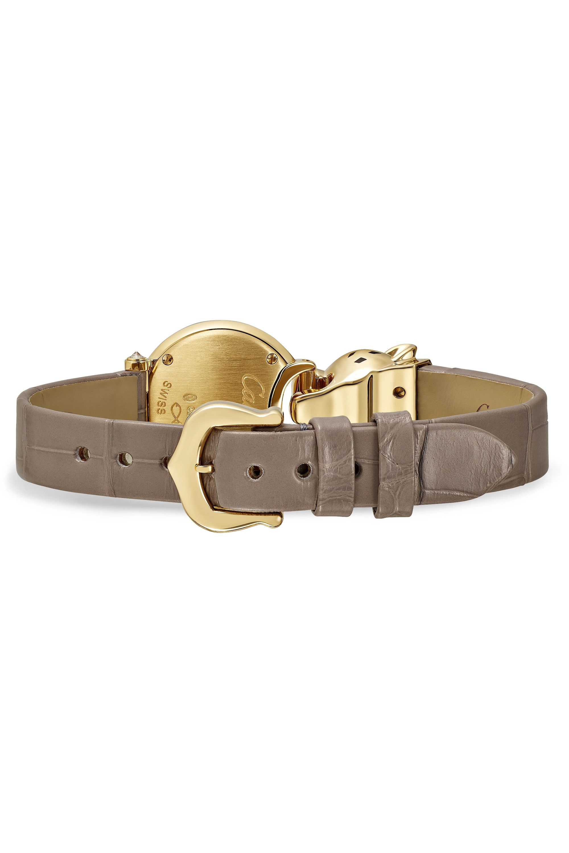 Cartier La Panthère 18-karat gold, alligator and diamond watch