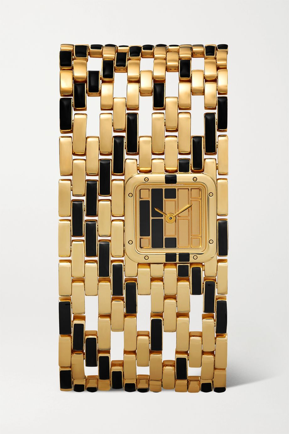 Cartier Panthère de Cartier Manchette 22mm 18-karat gold and lacquer watch