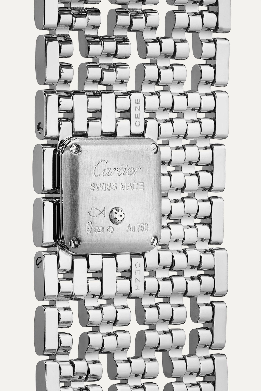 Cartier Panthère de Cartier Manchette 22mm rhodium-finish 18-karat white gold and diamond watch