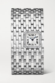 Panthère de Cartier Manchette 22mm rhodium-finish 18-karat white gold and diamond watch