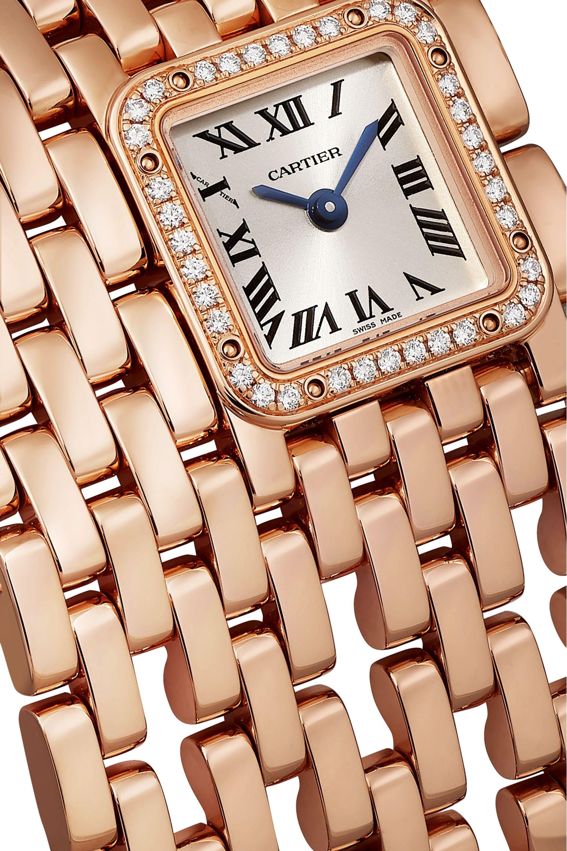 Cartier Panthère de Cartier Manchette 22mm 18-karat rose gold and diamond watch