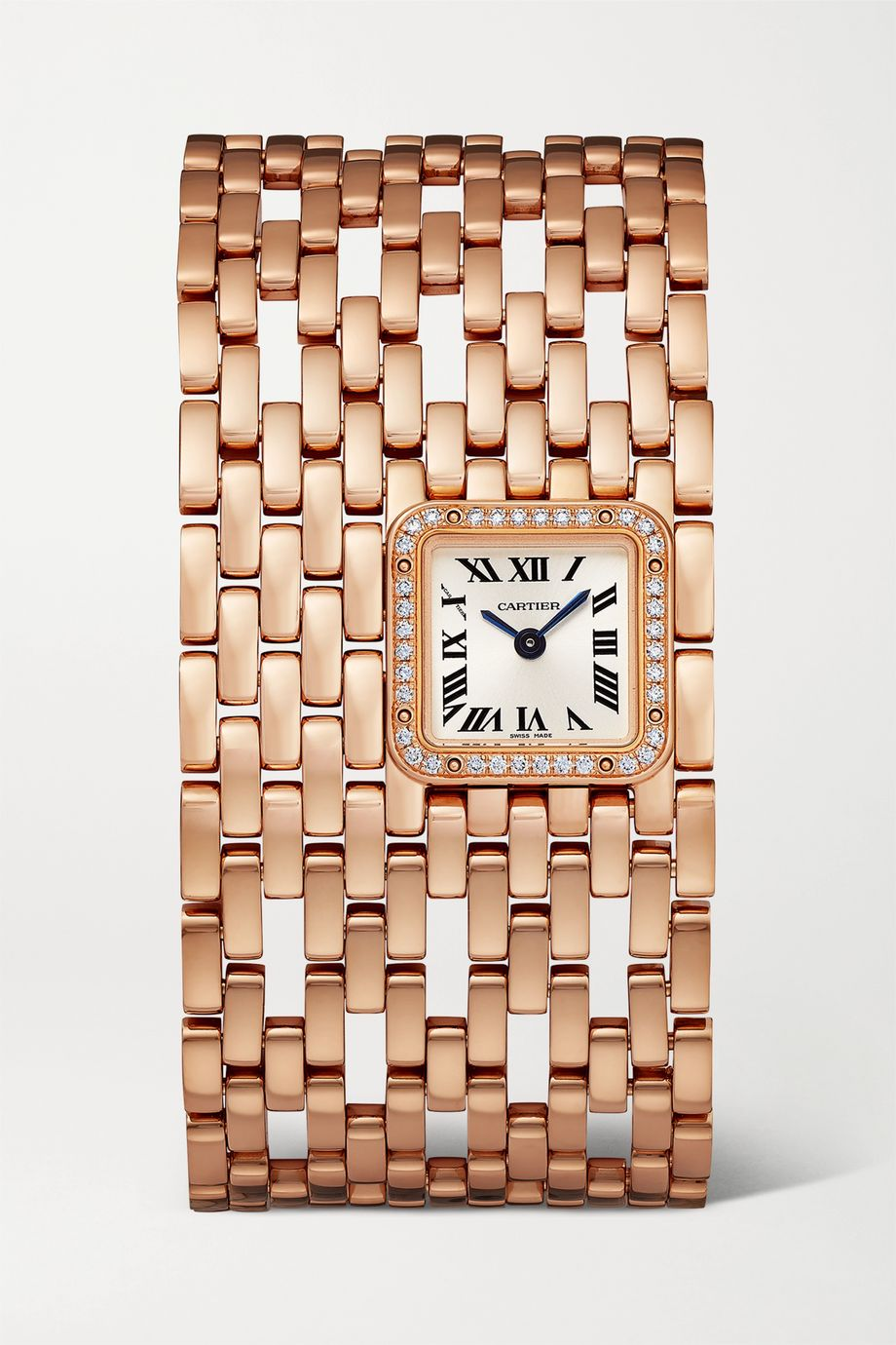 Cartier Montre en or rose 18 carats et diamants Panthère de Cartier Manchette 22 mm