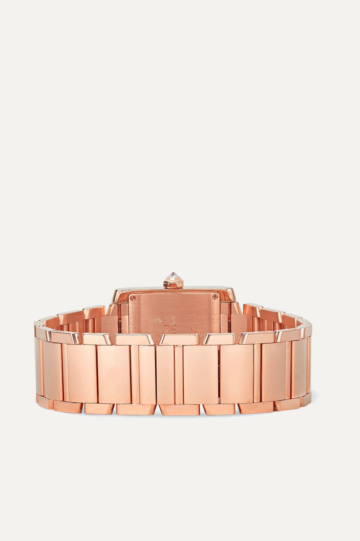 Cartier Tank Française 25mm medium 18-karat rose gold diamond watch