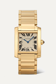 Cartier Tank Française 25mm medium 18-karat gold watch